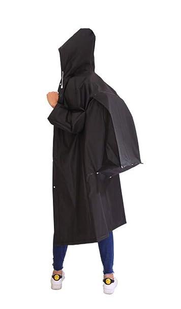 bf30b7bb8b Amazon.com  Aircee Long Raincoat Women Reusable Rain Poncho Men Rain Coat  Adults Durable Rainwear Packable Rain Jacket Backpack Position  Clothing