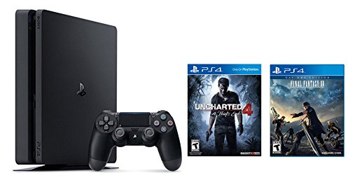 Playstation-4-Slim-2-items-Bundle-PlayStation-4-Slim-500GB-Console-Uncharted-4-Bundle-and-Final-Fantasy-XV-Game-Disc