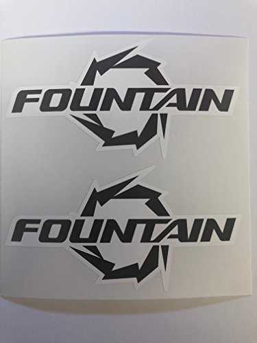 Speed Fountain Boats (2 B & W Fountain Boats Decals by SBDdecals.com)