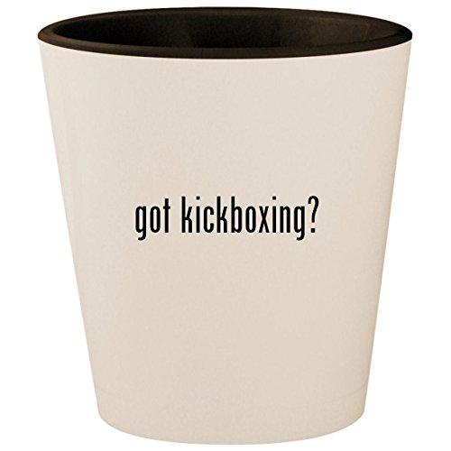 (got kickboxing? - White Outer & Black Inner Ceramic 1.5oz Shot Glass)