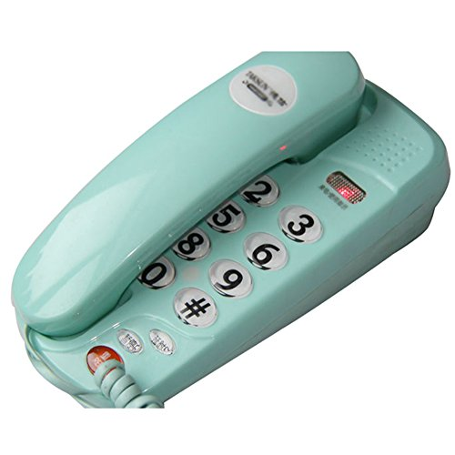 SAN_X Retro Phone Telephone Household Wall-Mounted Mini Phone Small landline Caller Indicator (Color : Green) from SAN_X