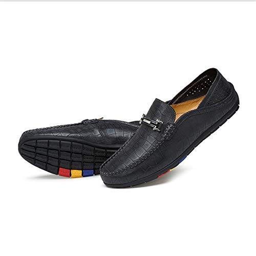d'affari in Morbido Scarpe donna uomo Zgsjbmh 24 marrone nero blu pelle unico 27 0cm Mocassino design gommino comfort sintetica Nero 0cm da Mocassino dimensioni da e basse Scarpe leggero Pq0dUq
