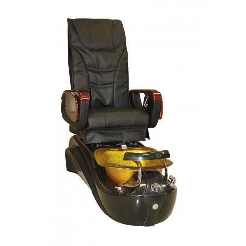 Black and Gold Pedicure Spa Massage Chair MagnaJet with Free (Bath Whirlpool System)