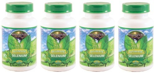 International Shipping  Youngevity Ultimate Selenium 100 Mcg 4 Bottles 90 Capsules Each