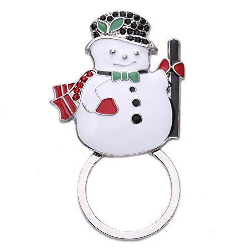 SENFAI Christmas Snowman Magnetic Clip Eyeglass Holder Pins