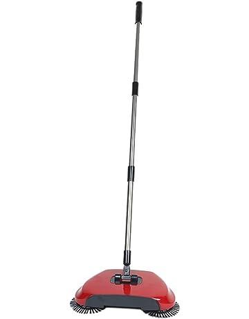 Automático mano empuje escoba escoba con cepillos giratorios escoba sin electricidad aspiradoras Sweeping máquina 360 Rotary