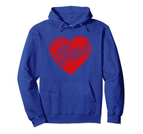 Unisex Love Heart Cheerleading Hoodie Cheerleader Cheer Costume XL: Royal Blue