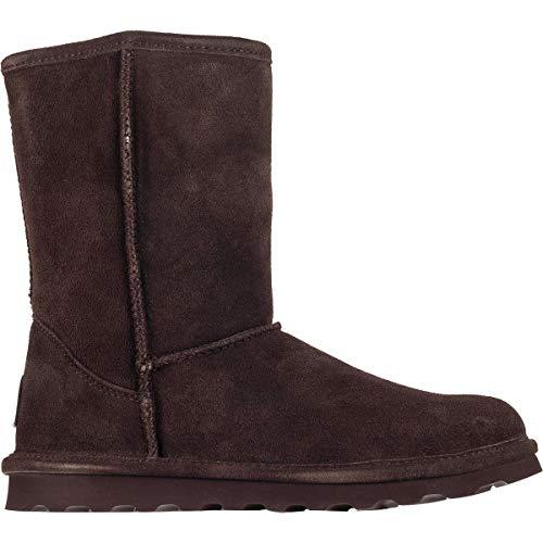 BEARPAW Women's Elle Short Winter Boot, Chocolate II, 9 M US