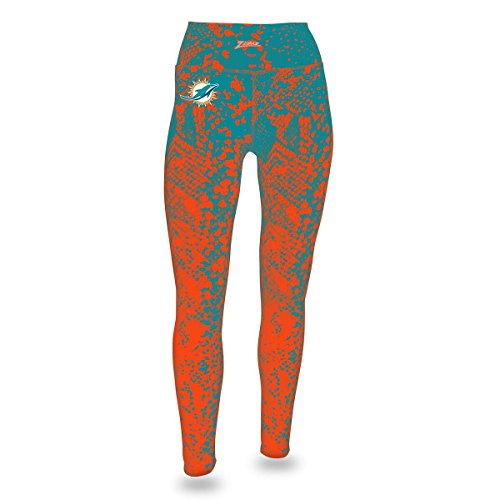 NFL Miami Dolphins Women's Zubaz Gradient Print Team Logo Leggings, Medium, - Card Gradient