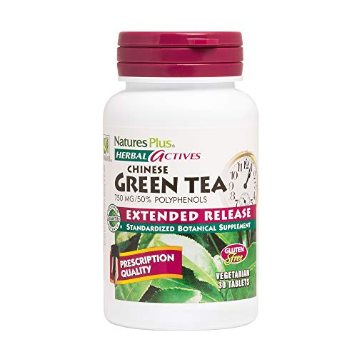 Herbal Actives Extended Release Green Tea 750 mg Nature's Plus 30 Tabs