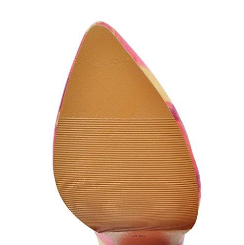 Talon Antidérapage Chaussures Légeres À Rouge Aalardom Femme Tire Haut Semelle E7XXwq