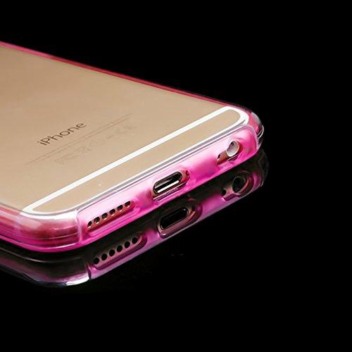 Handy Schutz Hülle mit Displayschutz Touch Case für Apple iPhone 6 / 6S 360 Rundum Schutz Kunststoff & TPU Bumper Full Body Cover Schale Etui in Pink