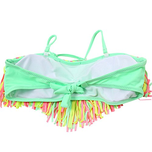 af52a9921b9c2 Wocharm Girls Kids Baby 3-12 Year Old Cute Summer Tassel Nylon Swimsuit  Bikini Set