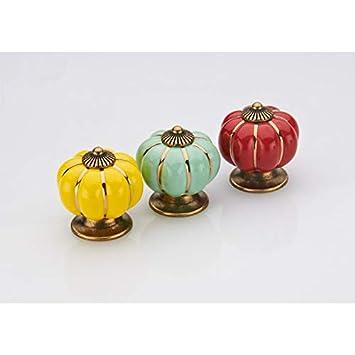 Demarkt Keramik-Effekt Schrankkn/äufe Set Vintage Antik-Effekt M/öbelkn/äufe M/öbelgriff Schrankgriffe Schubladenknopf