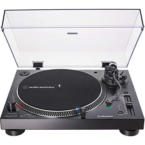 Audio-Technica AT-LP120XUSB Direct-Drive Turntable (Analog & USB), Black, Hi-Fidelity, Plays 33 -1/3, 45, and 78 RPM Records, Convert Vinyl to Digital, Anti-Skate Control, Variable Pitch -
