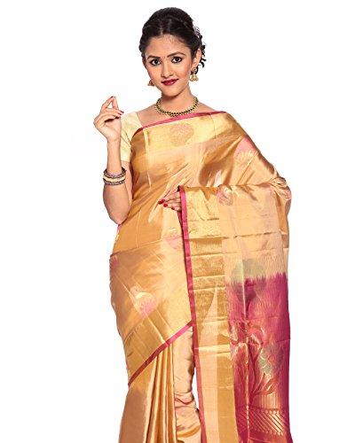 Mandakini — Indian Women's Kanchipuram - Handloom - Pure Silk Saree (Off-White) by Mandakini (Image #1)