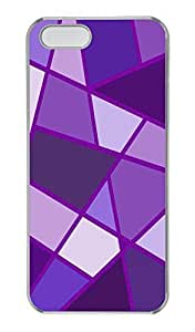 iPhone 5/5s Case, Personalized Protective Purple Rhombus Case for iPhone 5/5S PC Clear Phone Cover