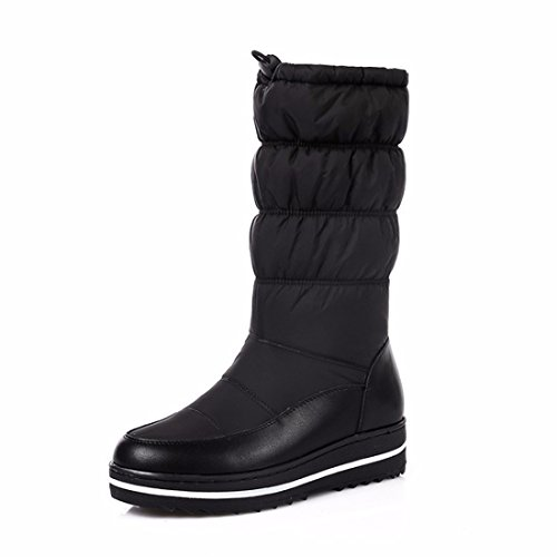Las botas de nieve tubo de tamaño zapatos Zapatos madre en invierno black