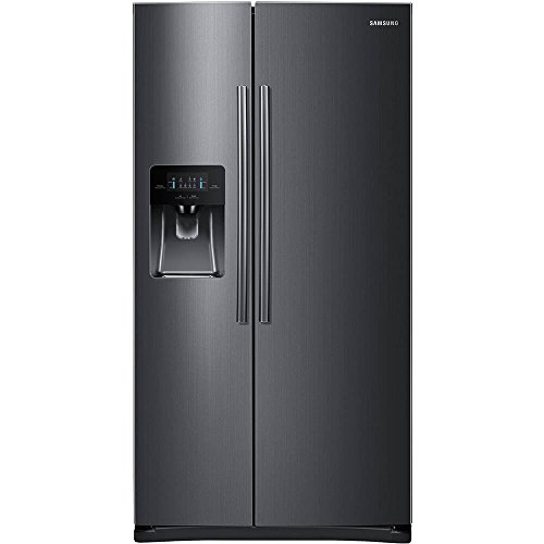 Samsung RS25H5111SG 36' Freestanding Side by Side Refrigerator with 24.5 cu. ft. Capacity, in Black Stainless Steel