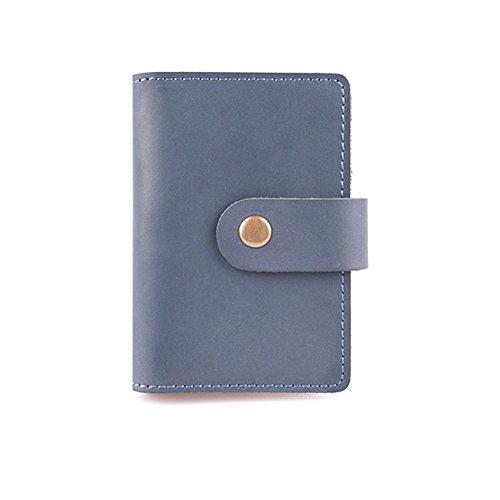 UPC 608408966333, ZE Genuine Leather Wallets Credit Card Holder Business ID Card Case (Blue)