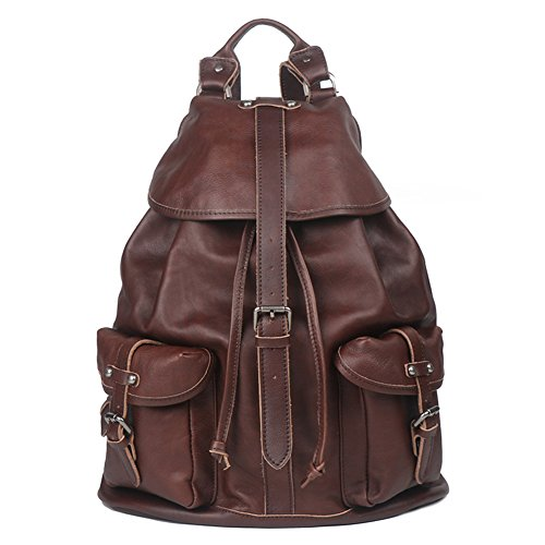 Genda 2Archer Genuine Leather Backpack Purse for Men Women (Coffee) by Genda 2Archer