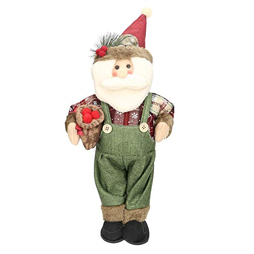 (certainPL Christmas Santa Claus Plush Doll, Handmade Elf Dwarf Decoration, Christmas Party Gift, 18.5