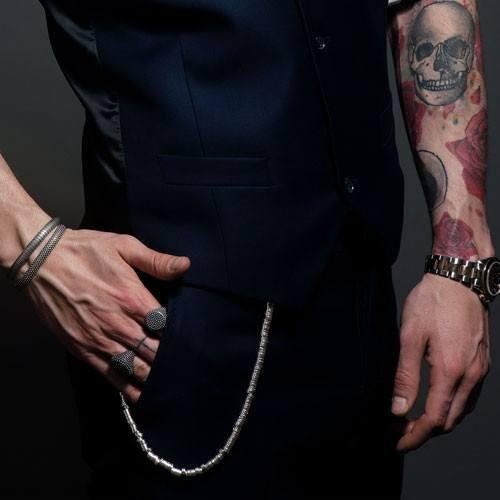 20/'/' Premium Biker Street style Snap Hook VINILE WALLET CHAIN in Zama for Men by SEVEN50 with gift box