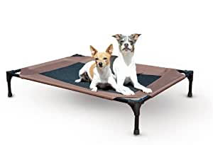 "Waterproof Outdoor Dog Bed Cot with Elevated/Raised Mesh Design (Large - 30""L x 42""W x 7""H)"