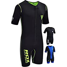 RDX Sauna Suit MMA Neoprene Sweat Shirt Rash Weight Loss Slimming Fitness Gym Exercise Training