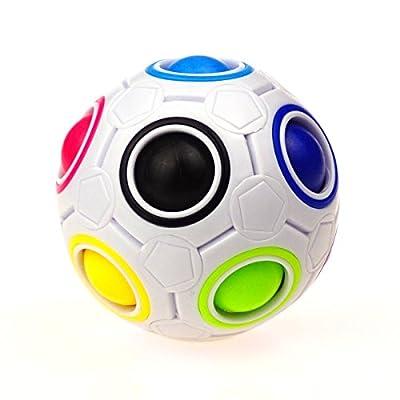 CuberSpeed YJ Rainbow Ball Magic cube with plastic case puzzle Magic Rainbow ball puzzle by YONGJUN