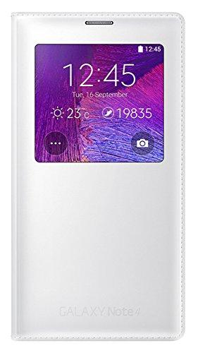 Samsung S-View Schutzhülle Case Cover mit Sichtfenster für Samsung Galaxy Note 4 - Weiß