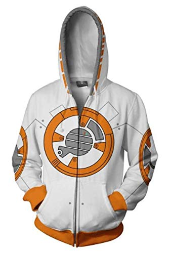 Mutrade Unisex Storm Trooper Character Jacket Adult Zipper Hoodie Halloween Cosplay Costume (XXLarge, BB8) -