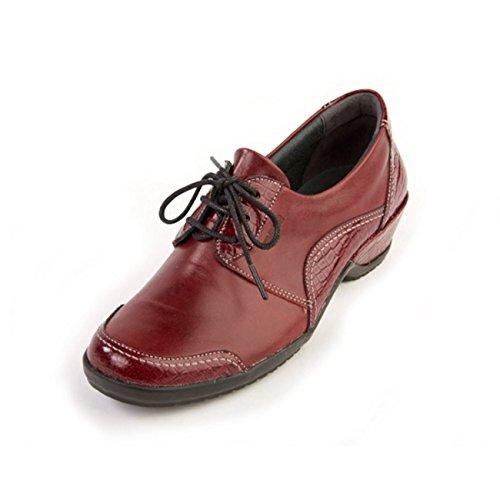 de Zapatos Suave Croc Otra para Piel Cordones Cherry Mujer de AqdrwS5d
