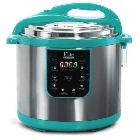 Elite Platinum Super-sized 10 Quart 8-In-1 Multi Functional Electric Pressure Cooker, Teal (Electric Pressure Cooker 15 Psi compare prices)