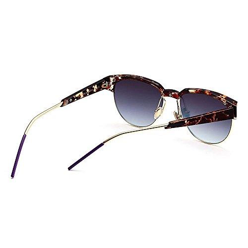 al Lente Libre de de Forma Gu Gafas Color Viajar Aire Color Rimless Conducción Unisex Semi C5 Sol Redonda Peggy UV Protección C6 zZxwPz7nq