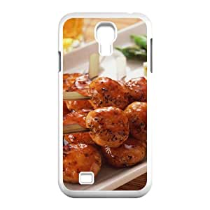 3D Okaycosama Funny Samsung Galaxy S4 Case Delicious Skewers for Teen Girls Protective, Phone Case for Samsung Galaxy S4 I9500, [White]