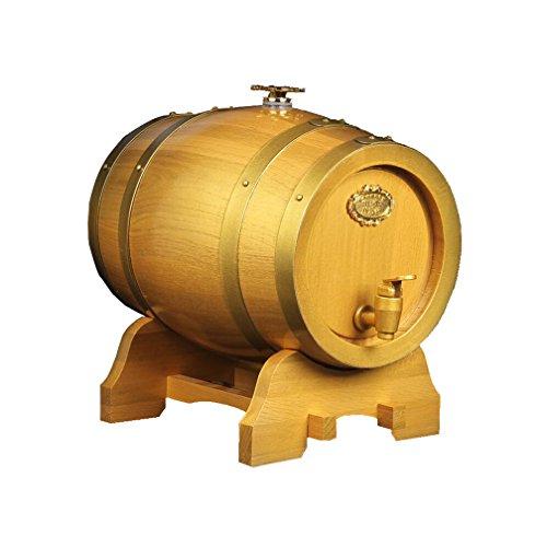 WAOBE Barriles De Roble - Barriles De Vino Tinto, 3L / 5L / 10L Contenedores De Madera para Vino De Elaboración Casera...