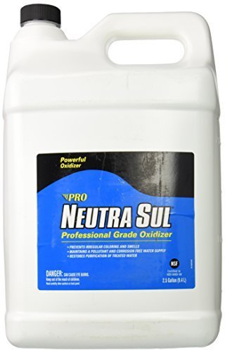 2.5 gal Pro Products Neutra Sul Powerful Professional Grade Oxidant Oxidizer HP22N Protect Against Irregular coloring and rotten egg smell in treated water by Pro Products