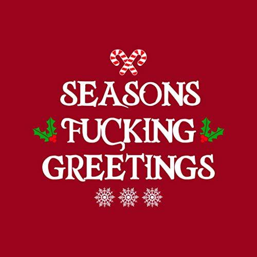 Red Christmas Greetings Sweatshirt Fucking Seasons Cherry Coto7 Women's 0dwqWBB7