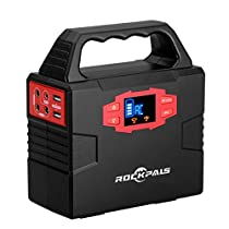 Rockpals ポータブル電源 小型発電機 DC AC USB 7WAY出力 4080...