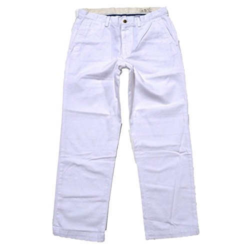 Polo Ralph Lauren Mens Classic-Fit Flat-Front Chino Pants (White, 31X30)