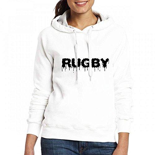 Stephanie Ralph Des Femmes De Hoodies Des Femmes Des T-shirts Personnalisés Sweat Sweatshirts Mélange Graphique Personnalisé De Rugby Blanc