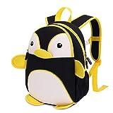 FuCaiLai Cute Animal Backpack Cartoon Penguin Children's Schoolbag Toys Bag for Boys and Girls,Black