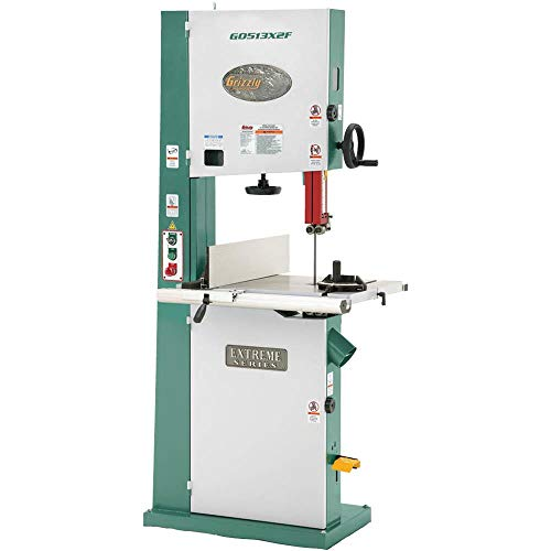 Grizzly G0513X2F 2 HP Extreme-Series Bandsaw with Cast-Iron Trunnion and Foot Brake, 17-Inch