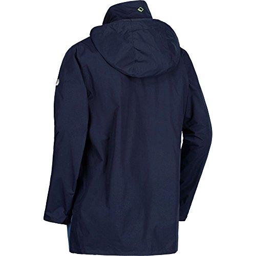Waterproof Ii Uomo out Regatta dark Hooded 1 Telmar Denim Giacca With Zip In Navy Fleece 3 4wXqB