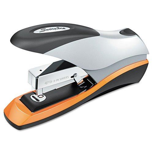 (3 Pack Value Bundle) SWI87875 Optima Desktop Staplers, Half Strip, 70-Sheet Capacity, Silver/Black/Orange hot sale