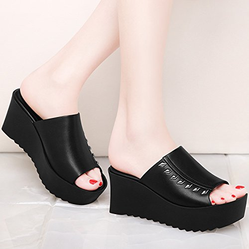 KHSKX-The New High Heels And Increased Summer Wedges Female Female Muffin Sandals Thirty-eight RyuZMr