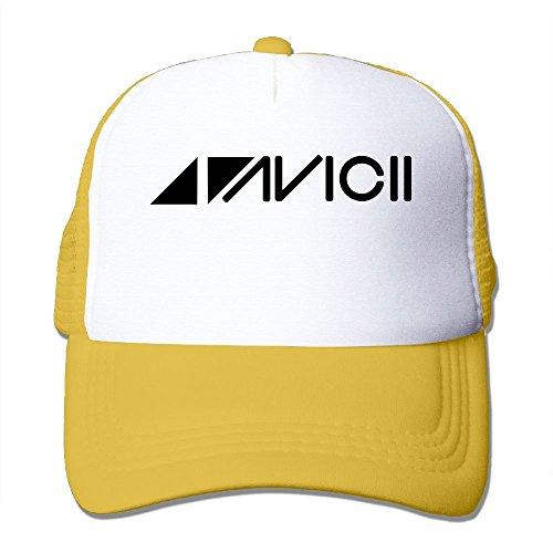 教育楽しませる可動(AOI) Musician DJ AVICII Logo テニス 帽子 メッシュキャップ 男女兼用 日焼け止め 紫外線防止 通気 ヒップホップ野球帽