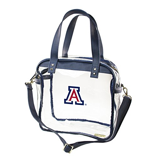 CAPRI DESIGNS CLEARLY FASHION LICENSED STADIUM COLLECTION CARRYALL TOTE---MEETS STADIUM REQUIREMENTS (University of Arizona) by CLEARLY FASHION