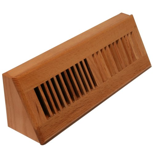 Decor Grates WL18BB Natural Oak Baseboard Register, ()